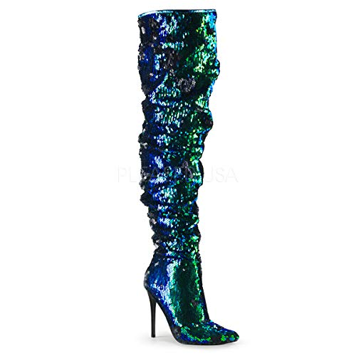 Pleaser Womens COURTLY-3011/GRNSQ Boots -