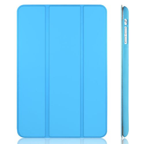 JETech® Gold Slim-Fit Folio Smart Case Cover per Apple iPad Mini e New iPad Mini con Retina Display (Seconda Generazione) con Auto Funzione Sonno/Veglia - Blu