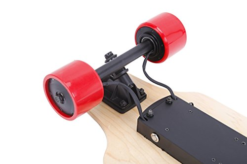 ninestep 36Inch Dual Motor eléctrico monopatín longboard de 1000W Eléctrico con mando a distancia y LG 4.4Ah recargable