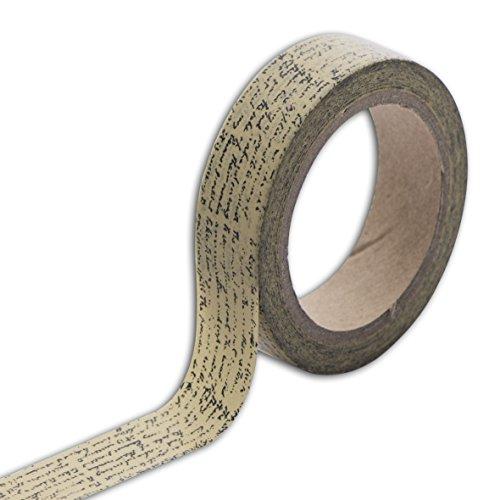 Unbekannt Toga mt98Masking Tape Schreibschrift, Vintage Washi Tape Beige 5,5x 7x 1,5cm