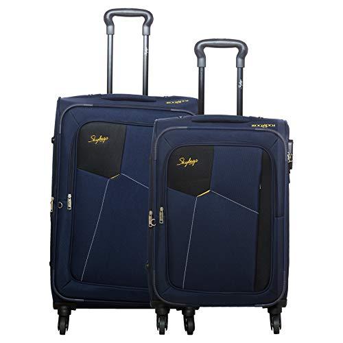 Skybags Rubik Blue Softsided Luggage Set of 2 Small & Medium