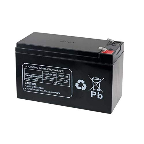 Powery Batterie Rechargeable de Remplacement pour USV APC Back-UPS ES 550, 12V, Lead-Acid [ Batterie...