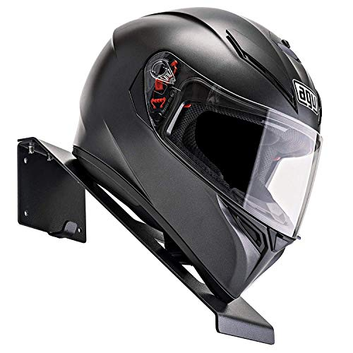 BESTUNT Helmhalterung | Für Motorrad Halter Regal Rack Lagerung Fixierung | Berg an der Wand | Schwarz