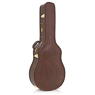 Deluxe Arch Top Jazz Guitar Case by Gear4music - acoustic-guitar-cases, musician-bags