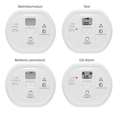 Ei Electronics Ei208D 10-Jahres-Kohlenmonoxidwarnmelder, 1 Stück - 7