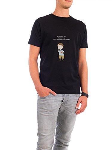 """Design T-Shirt Männer Continental Cotton """"will you date me"""" - stylisches Shirt Comic von Lingvistov Schwarz"""
