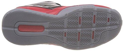 Adidas Performance 3 Series Nba noir, chaussures de basketball enfant (Noir-Rouge)