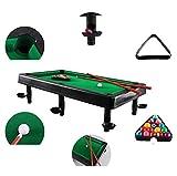 Billares Petite - el clásico juego de mesa de billar con 6 stands con bolsillos laterales/esquineros adjuntos; un juego animado de la diversión de Snooker a través de la ayuda de rack triangular