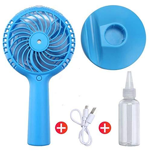 1200Mah Portable Water Spray Nebel Fan Electric USB Wiederaufladbare Handheld Mini Fan Kühlung Klimaanlage Luftbefeuchter Für Outdoor B Blau -
