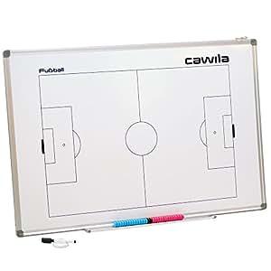 Cawila Coachboard für Fußball, magnetische Taktiktafel, verschiedene Größen (45 x 30 cm)