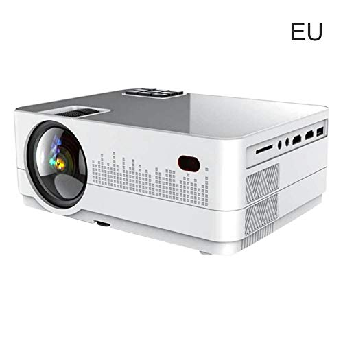 Blue-Yan Projektor 2300LM LED Multimedia Heimkino USB VGA HDMI TV AV 3D Mini volles HD 1080P Heimkino Unterhaltung Spiele Parteien, Weiß/Schwarz