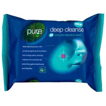 Pure Deep Cleansing Face Wipes 25 x 2 Pack from Saraco Industries Ltd