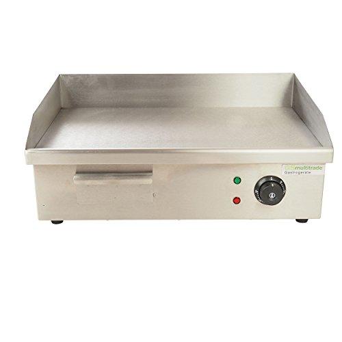 Grillplatte Elektrogrill, für gleichmäßig gegrilltes Fleisch. Aus Edelstahl mit glatter Platte in Gastroqualität