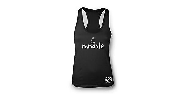 Namaste femmes Gym Training Gilet Cardio Dos nageur Gilet Yoga entraînement  Sports d entraînement Gilet d entraînement Inspiration Citation Gym  Débardeur ... 4fed5d08941