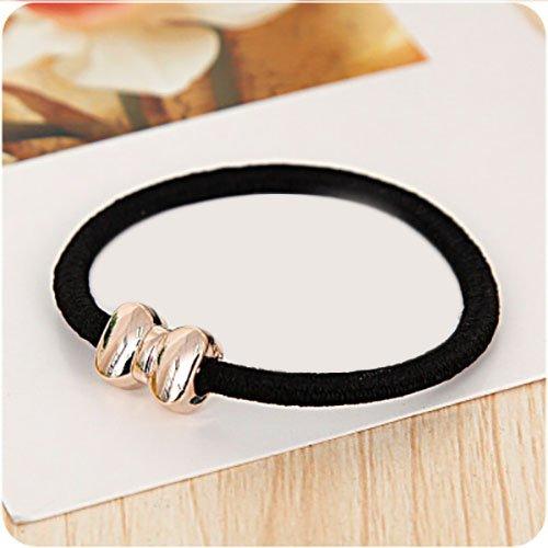 10 x Noire Joints en Caoutchouc Bracelet Bijoux tresse en caoutchouc cheveux Chouchou cheveux noeud tresse