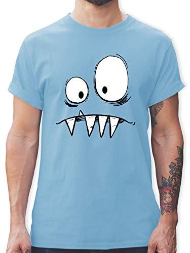 Karneval & Fasching - Monster Kostüm - XL - Hellblau - L190 - Herren T-Shirt und Männer Tshirt (Shirt Thor Kostüm)
