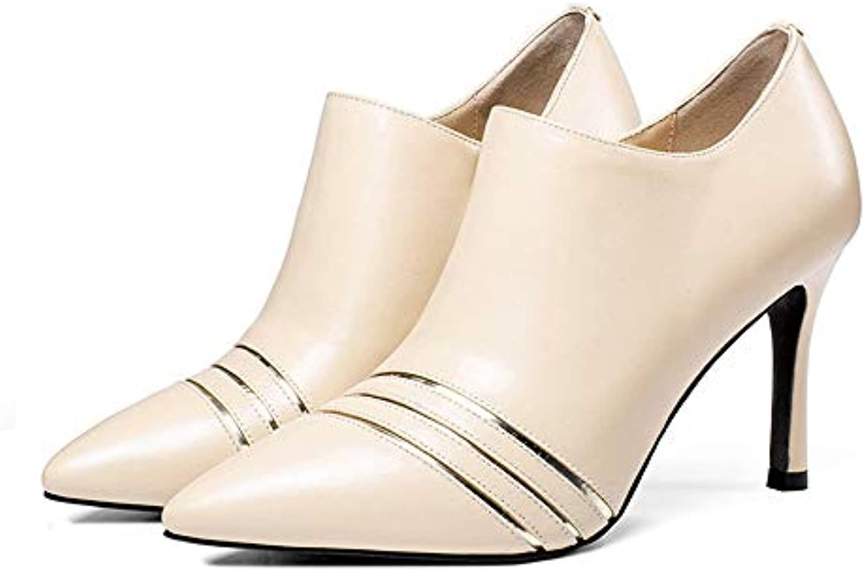 Shirloy Ladies Charm High-Heeled scarpe Wouomo Stiletto Fashion Fashion Fashion scarpe Pelle Punta Scarpe Femminili   Produzione qualificata    Uomo/Donna Scarpa  85520e