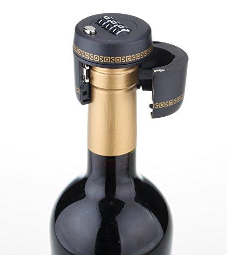 ESAILQ Flaschenschloss Weinschloss Flaschenverschluss mit Zahlenschloss