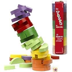 Aquamarine Games - La Torre circular de colores, juego de habilidad (Compudid CPES04)