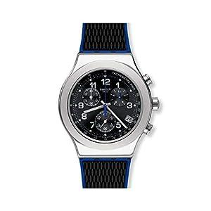 Swatch Reloj Cronógrafo para Hombre de Cuarzo con Correa en Caucho YVS451