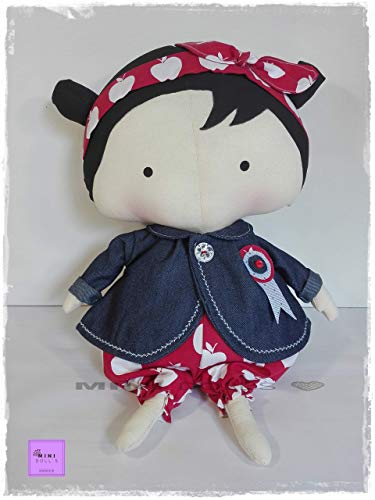 Muñeca de trapo para niñas. Muñecas de tela.Doll. Decoracion. Bebe. Matilde