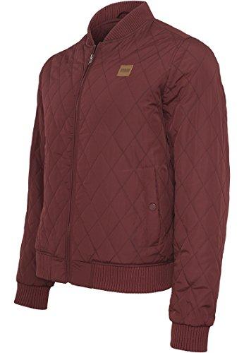 Urban Classics Herren Jacke Diamond Quilt Nylon Jacket Rot (burgundy 606)