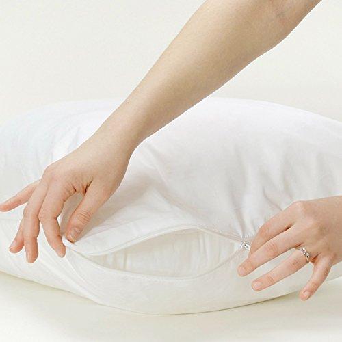 Bid buy direct - copri cuscini 100% cotone, con zip, anallergici, antibatterici, resistenti ai liquidi, lavabili in lavatrice, 2 pezzi