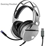 CHESUN PC Gaming Headset Stereo Surround, Soft Memory Ohrmuffs, Noise-Abbrechen, Mikrofon USB LED Light Für PS4/Xbox One/Nintendo Switch/Smartphone