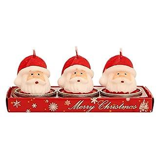 Pretty Comy Velas De Navidad Santa Claus MuñEco De Nieve Velas Cono Pino Fiesta De Navidad DecoracióN NavideñA