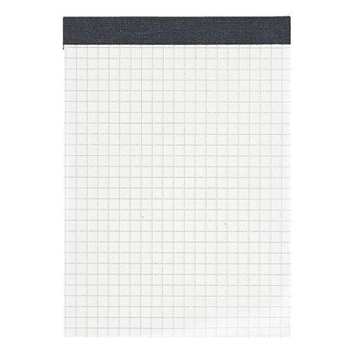LANDRE 100050641 Notizblock 10er Pack ohne Deckblatt A6 kariert 60 g/m² 50 Blatt schwarz gefälzelt perforiert