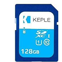 Carte SD 128Go Classe 10 Carte Mémoire Haute Vitesse pour Canon EOS M50, M100, M10, M6, M5, 6D, 60D, 70D, 80D, 100D, 550D, 600D, 1100D, 1200D, 1300D, 2000D, 4000D, 9000D Caméra UHS-1 U1 SDHC 128 GB