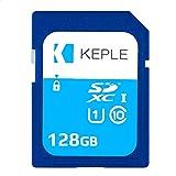 Scheda SD da 128GB Classe 10 Scheda di Memoria ad Alta Velocità per Canon EOS M50, M100, M10, M6, M5, 6D, 60D, 70D, 80D, 100D, 550D, 600D, 1100D, 1200D, 1300D, 2000D, 4000D, 9000D | UHS-1 U1 SDHC