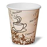ECOP Bio Kaffeebecher 250ml | umweltfreundliche Einwegbecher aus PLA | 50 Stück biologisch abbaubare Kaffee to go Becher