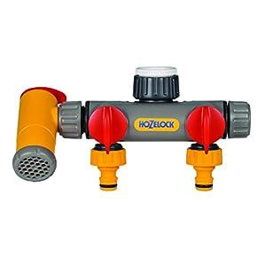 Hozelock Conector Dos vías Flowmax 2250 0000-Conector, Amarillo, 0.80×21.0x19.5 cm
