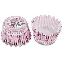 Staedter–Bandeja para horno, diseño de rosas, color rosa, 100unidades