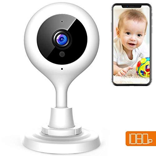 Apeman 1080P WiFi-Überwachungskamera, drahtlose Sicherheits-IP-Kamera, Zwei-Wege-Audio, Elder/Pet/Baby-Monitor, Infrarot-Nachtmodus, Kompatibel mit iOS und Android und PC