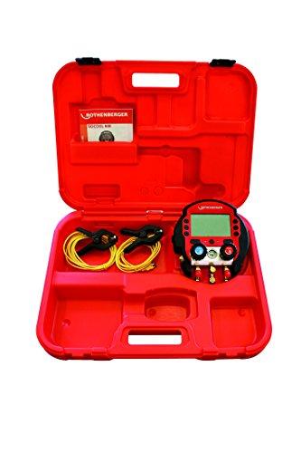 Rothenberger Digitale Monteurhilfe Rocool 600 Set mit 2 Temperaturklemmen, Red Box, Data Viewer Soft, 1 Stück, 1000000572 -