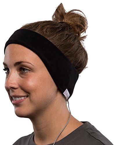 SleepPhones V.6Classic Fleece-Stirnband Kopfhörer–Schwarz, Medium. (Aid Maschine Sleep)