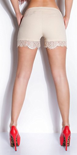 Beautiful d'été Shorty Bordure en dentelle Beige - Beige