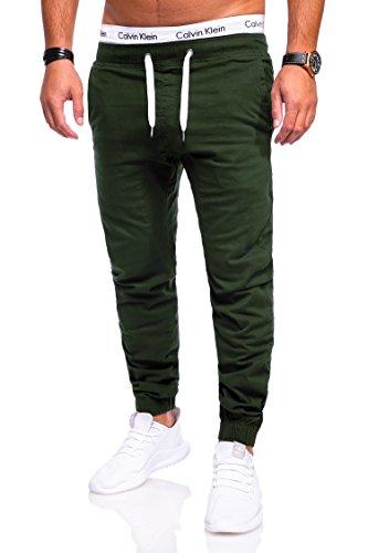 Behype Herren Jeans-Hose Chino Jogger 80-0060 Khaki 36 (Khaki Herren-jeans)