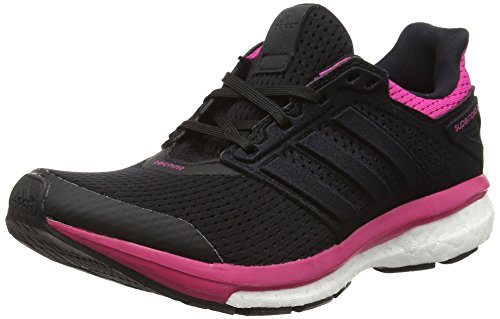 adidas Supernova Glide 8, Damen Laufschuhe Training, Core Black/Core Black/Eqt Pink, 38 2/3 -