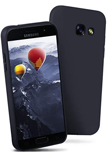 ONEFLOW® Flex-Fit Slimcase [SlimShield PRO] passend für Samsung Galaxy A5 (2017)   Dünn und griffig - Flexible Mischung aus Silikon und TPU, Blau - Dünne Mischung