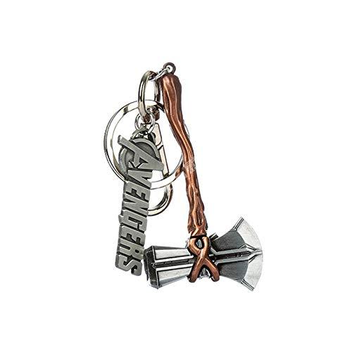 Chiefstore Stormbreaker Hammer Schlüsselanhänger Thor Cosplay Kostüm Key Ring Donner Axe Anhänger Zinklegierung Schmuck Endgame Kleidung Zubehör für Erwachsene Gifts - Thor Kostüm Mit Hammer