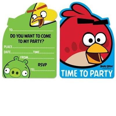 Angry Birds Geburtstag lädt ein 6er Pack