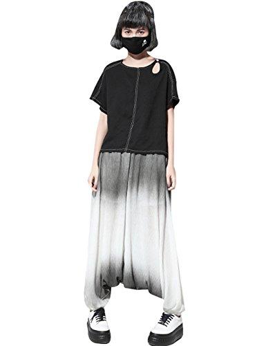 Youlee Donna Primavera Vita elastica Pantaloni Harem Stile 4