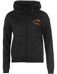 Lonsdale London Sweat zippé à capuche pour femme Noir à capuche pour homme Sweat Vêtements de sport