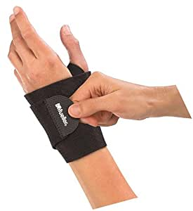 Mueller Wrist Support Wrap, OSFM (Black)