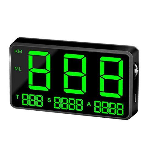 housesweet Universal HUD GPS Geschwindigkeitsmesser Digital MPH Geschwindigkeitswarnung Drahtlose Fahrrad Auto Motorrad