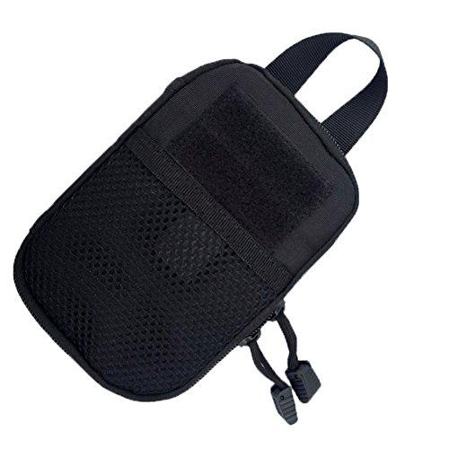 hscd1976 Tactical Molle Tasche EDC Utility Gadget Gürteltasche Telefon Holster Halter Taille Tasche Schwarz
