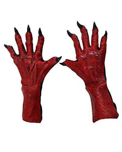 (Teufels Handschuhe rot)